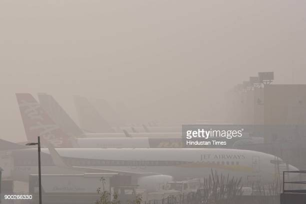 Dense fog and low visibility led to the cancellation of one flight and rescheduling of five domestic and seven International flights at Indira Gandhi...