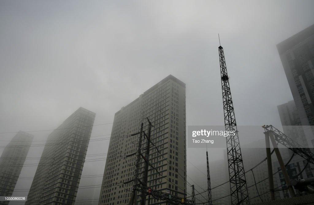 Dense fog enveloped Harbin on September 14, 2018 in Harbin, China. The meteorological department issued a yellow alert for dense fog