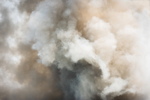 Dense white smoke rising from the raging wildfire,close up swirling white smoke background. - gettyimageskorea