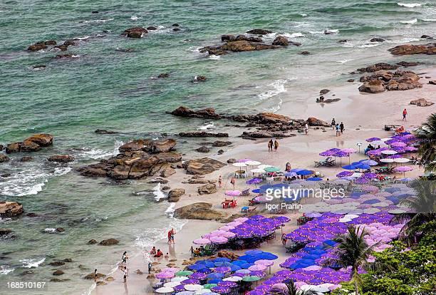 Densely Packed Umbrellas / Hua Hin Beach