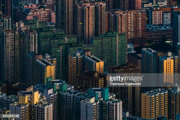Density apartment building in Hong Kong