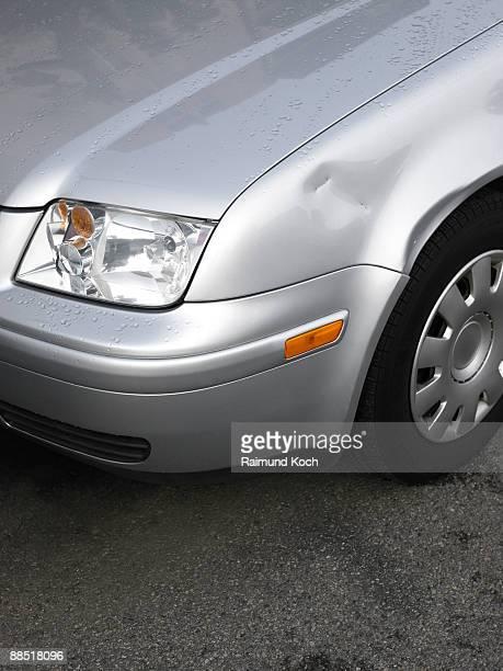 Dent in car