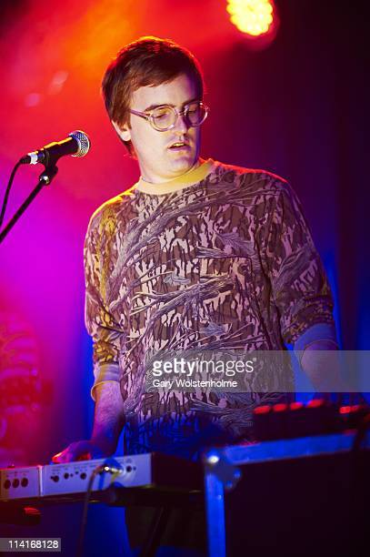 Dent May performs on stage during the first day of ATP Festival curated by Animal Collective at Butlins Holiday Centre on May 13 2011 in Minehead...