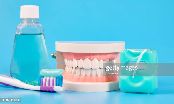 dental care - stock photo - dental filling stock pictures, royalty-free photos & images