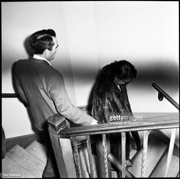 Dentist and model 27 May 1954 Dr Hal Crosby MeadAnn Walker Caption slip reads 'Photographer Glickman Date Reporter Sutherland Assignment Dentist and...