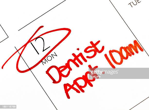 dentist appointment - monday stock pictures, royalty-free photos & images