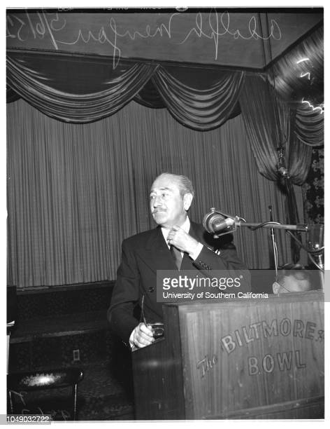 Dentist Convention 6 May 1952 Adolph Menjou