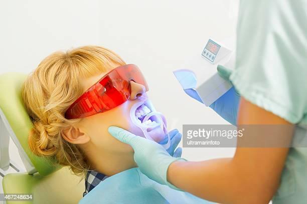 And Dentistry Zahnarzt arbeitet Zahnaufhellung Dental Medizinischer Prozess