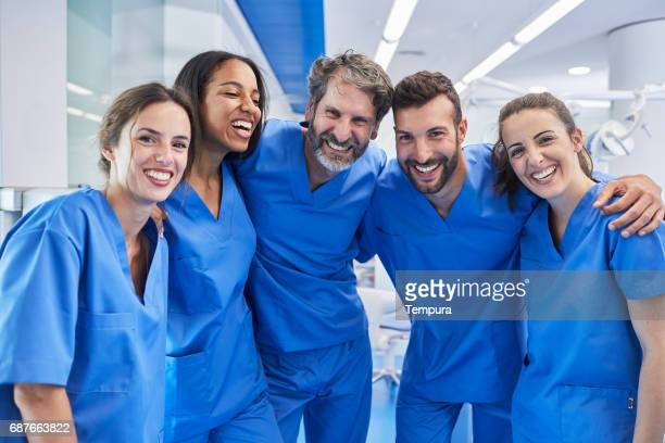 dentist's office in barcelona. medical workers portrait. - a team stock photos and pictures