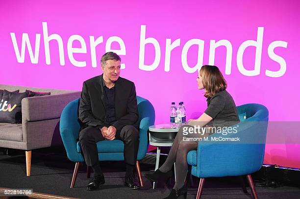 Dentsu Aegis Network Jerry Buhlmann and Anchor CNN Nina dos Santos during Winning in the Digital Economy A Conversation with Jerry Buhlmann part of...
