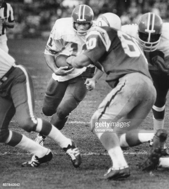 Denver Broncos Bob Anderson No 11 Tackled By Charger Bob Babich No 60 Credit Denver Post