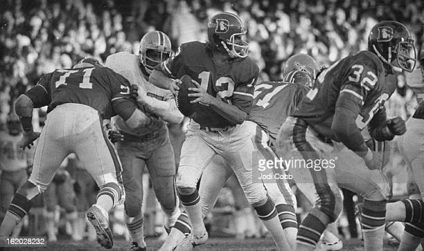 DEC 1974 OCT 17 1975 Denver Broncos charley Johnson If history repeats Browns are in for a long afternoon