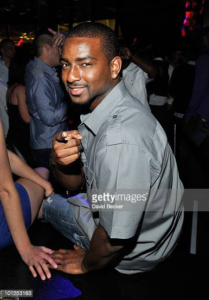 Denver Broncos' cornerback, Nate Jones attends the Bunny Bash at the Eve nightclub at Crystals at CityCenter early May 29, 2010 in Las Vegas, Nevada.