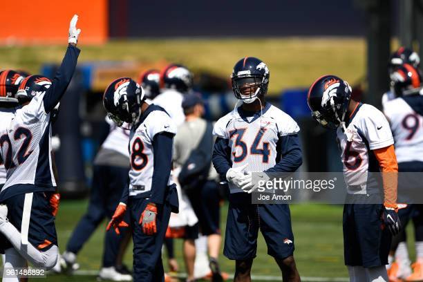 Denver Broncos defensive back Will Parks ready for the morning session of the first day of Broncos OTA's at the UCHealth Training Center in Englewood...