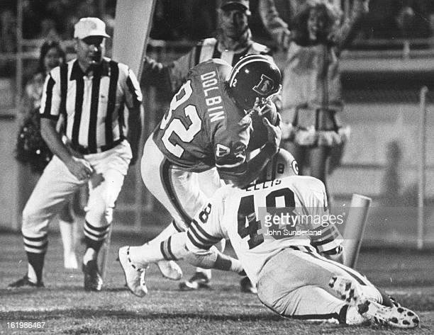SEP 29 1975 SEP 30 1975 Denver Broncos Dolbin scores 1st Denver TD Late in third Qtr