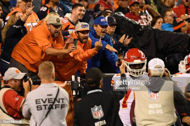 Denver Broncos fans let the Kansas City Chiefs know how they feel about a touchdown during the fourth quarter The Denver Broncos hosted the Kansas...