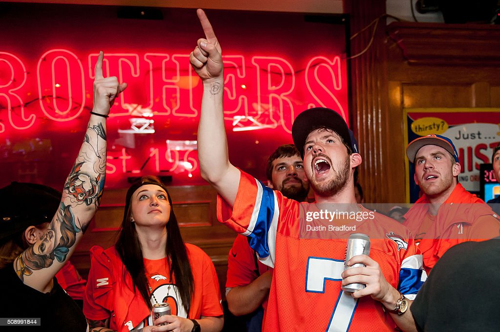 Denver Broncos fans watch Super Bowl 50 at It's Brothers, a bar in Lower Downtown on February 7, 2016 in Denver, Colorado.