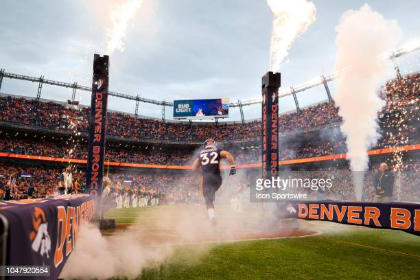 Denver Broncos fullback Andy Janovich during player introductions before the NFL regular season football game against the Kansas City Chiefs on...