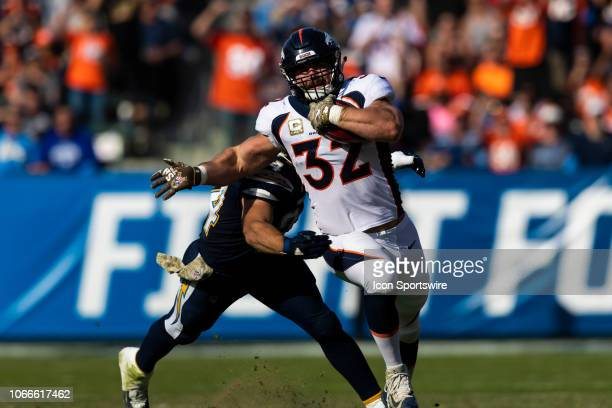 Denver Broncos fullback Andy Janovich during the NFL regular season game against the Los Angeles Chargers on Sunday November 18 at StubHub Center in...