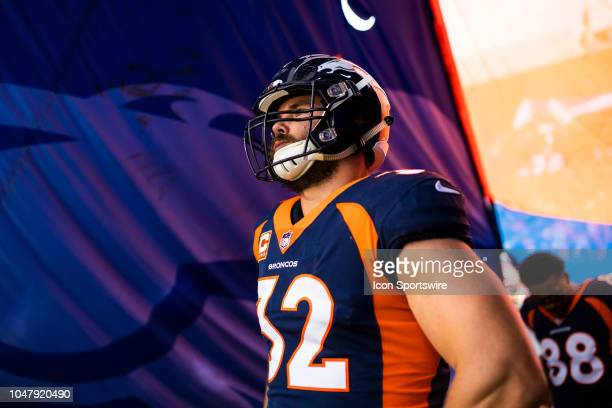 Denver Broncos fullback Andy Janovich in the tunnel before player introductions during the NFL regular season football game against the Kansas City...
