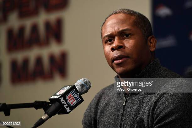 Denver Broncos head coach Vance Joseph addresses the media to close out the season on Tuesday January 2 2018 The Denver Broncos finished the 201718...