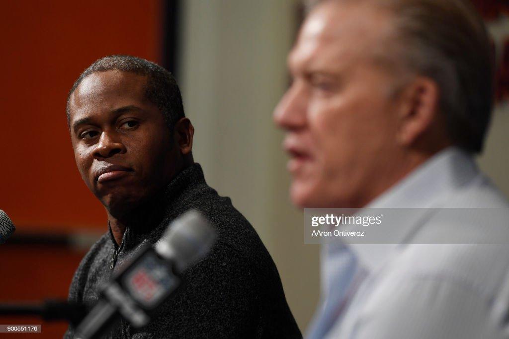 THe Denver Broncos season ending press conference : News Photo