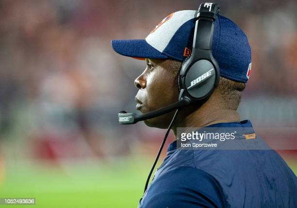 Denver Broncos head coach Vance Joseph stands on the sideline during NFL football game between the Arizona Cardinals and the Denver Broncos on...