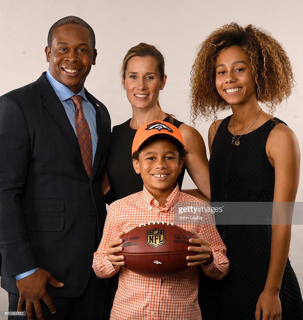 Denver Broncos Head Coach Vance Joseph With His Family