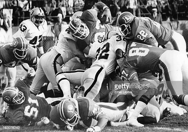NOV 2 1975 NOV 3 1975 Denver Broncos Keyworth couldn't ***** 4 inches from the goal line in second qt
