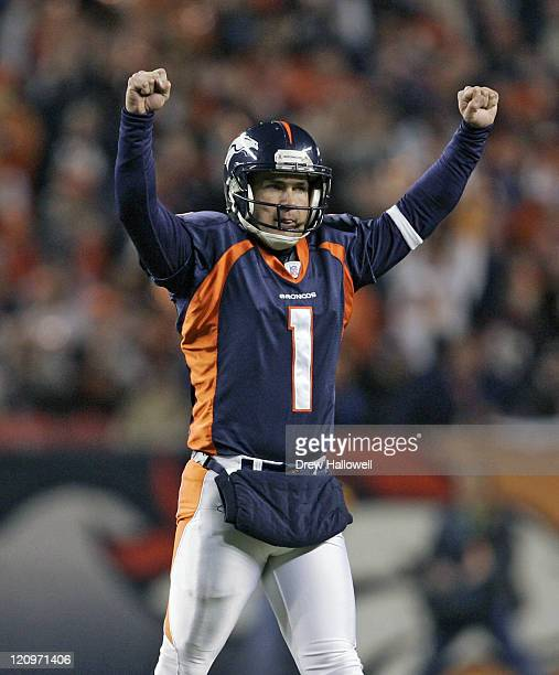 Denver Kickers: Jason Elam Stock Photos And Pictures