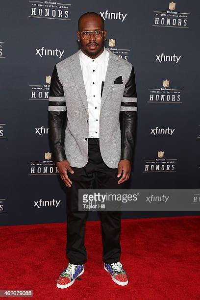 Denver Broncos linebacker Von Miller attends the 2015 NFL Honors at Phoenix Convention Center on January 31 2015 in Phoenix Arizona