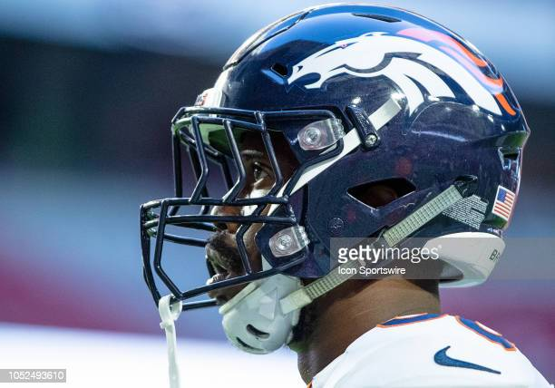 Denver Broncos linebacker Von Miller stands on the field during NFL football game between the Arizona Cardinals and the Denver Broncos on October 18...