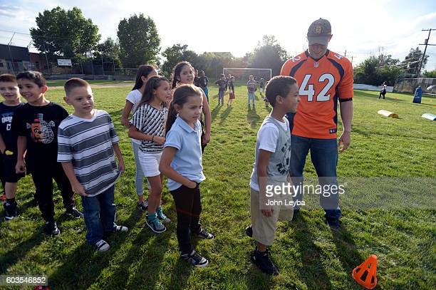 Denver Broncos long snapper Casey Kreiter helps out during the Fall 2016 NGL play 60 Challenge. The Denver Broncos launched their Fall 2016 NFL PLAY...