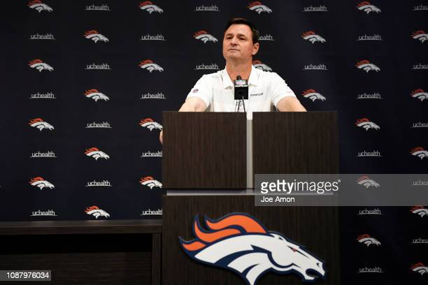 Denver Broncos new Offensive Coordinator Rich Scangarello introduced at Denver Broncos Headquarters on January 24 in Englewood Colorado