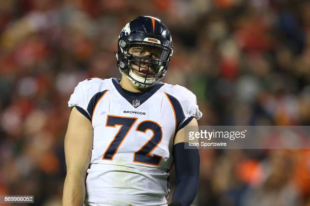 Denver Broncos offensive tackle Garett Bolles in the second quarter of an AFC West divisional game between the Denver Broncos and Kansas City Chiefs...