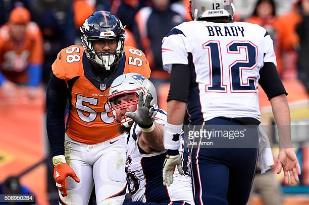 Denver Broncos outside linebacker Von Miller lines up straight at New England Patriots quarterback Tom Brady The Broncos defense stymied the New...