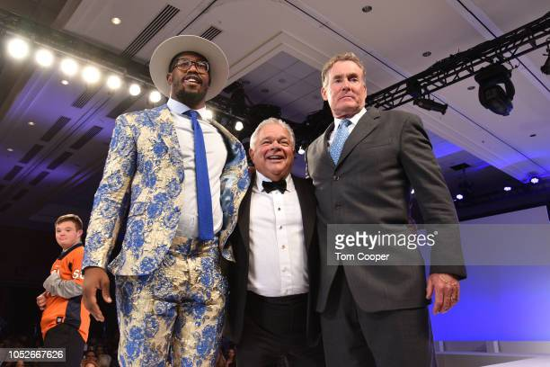 Denver Broncos Player Von Miller 2017 Fashion Show chair Peter Kudla and actor John McGinley at the Global Down Syndrome Foundation 10th anniversary...