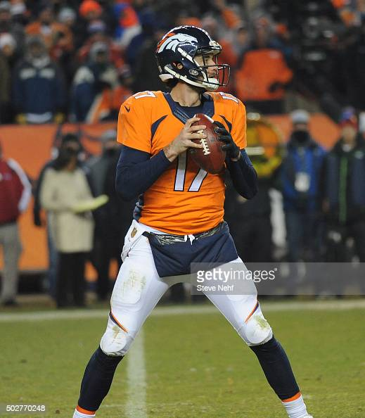 Denver Broncos Quarterback Brock Osweiler Sets Up To Pass