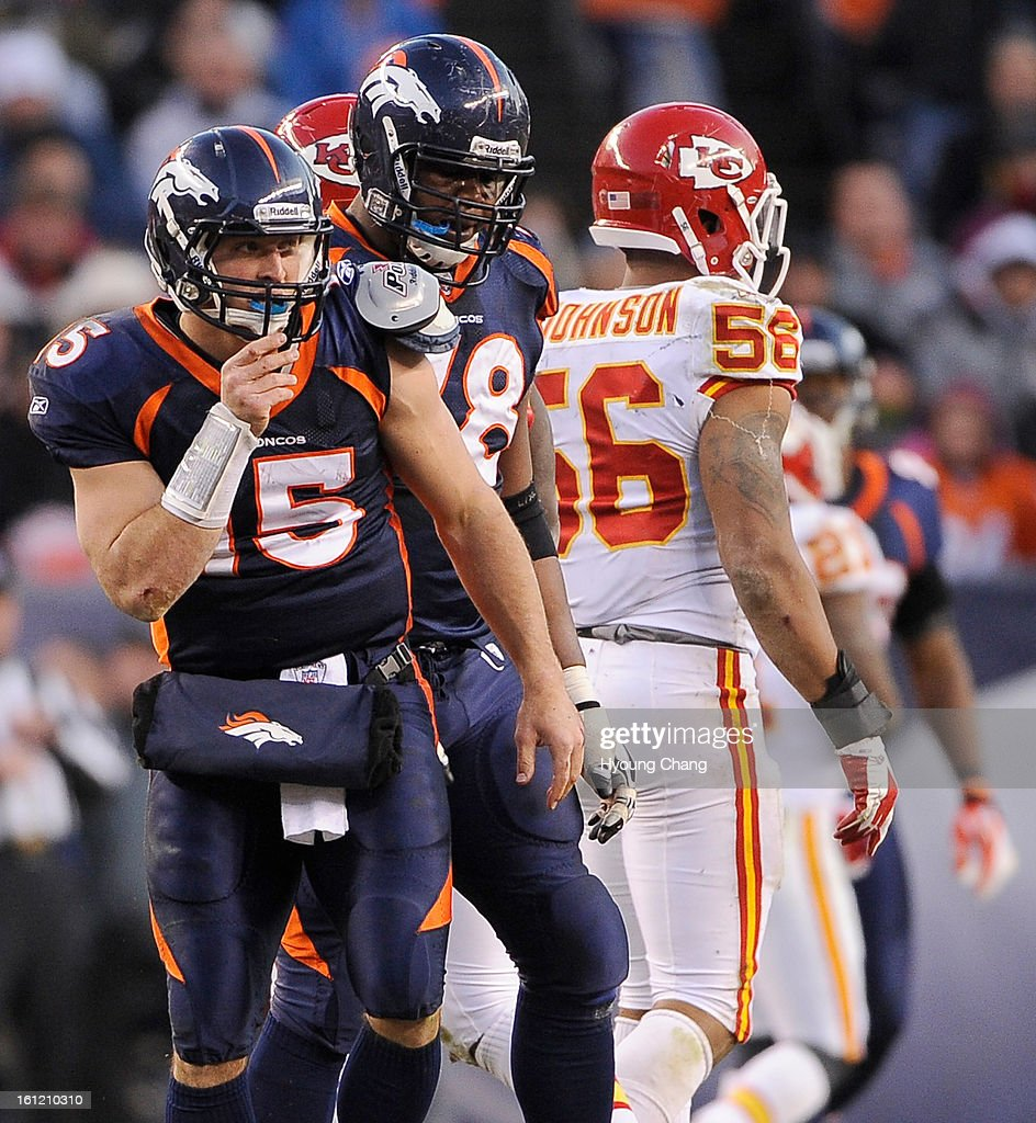 Denver Broncos Quarterback Tim Tebow After Being Sacked By