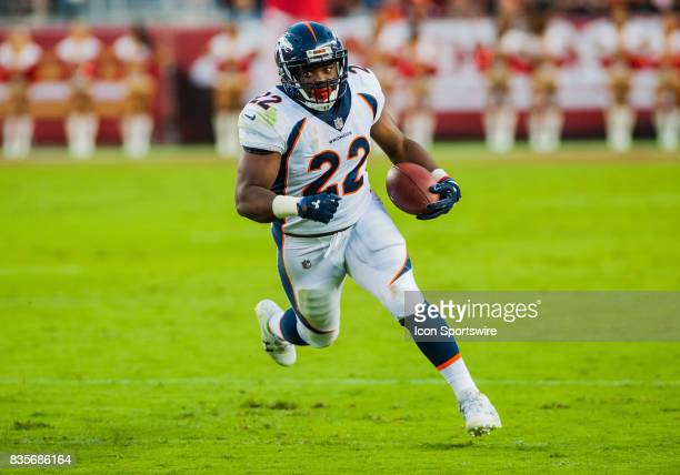 Denver Broncos running back CJ Anderson in the first half during the preseason game between San Francisco 49ers verses Denver Broncos at Levi's...