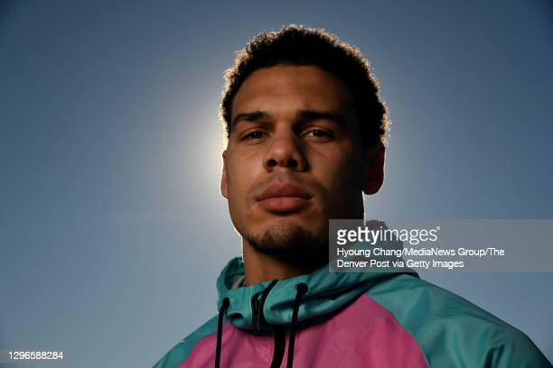 Denver Broncos Safety Justin Simmons poses for a portrait at Sweet Water Park in Lone Tree, Colorado on Friday. January 15, 2021.