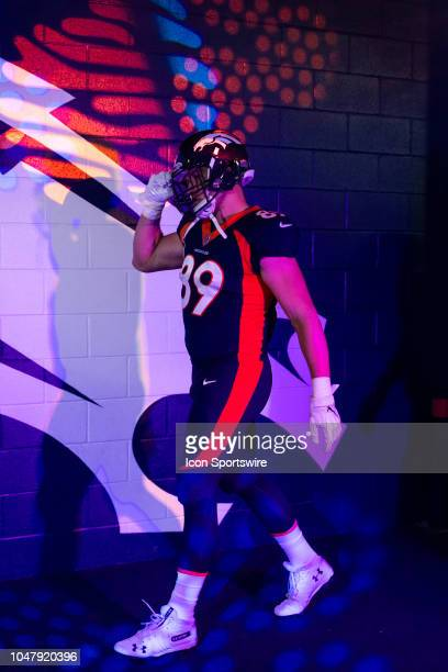 Denver Broncos tight end Brian Parker in the tunnel before player introductions during the NFL regular season football game against the Kansas City...