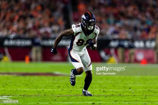 Denver Broncos wide receiver Demaryius Thomas during an NFL regular season football game against the Arizona Cardinals at State Farm Stadium on...