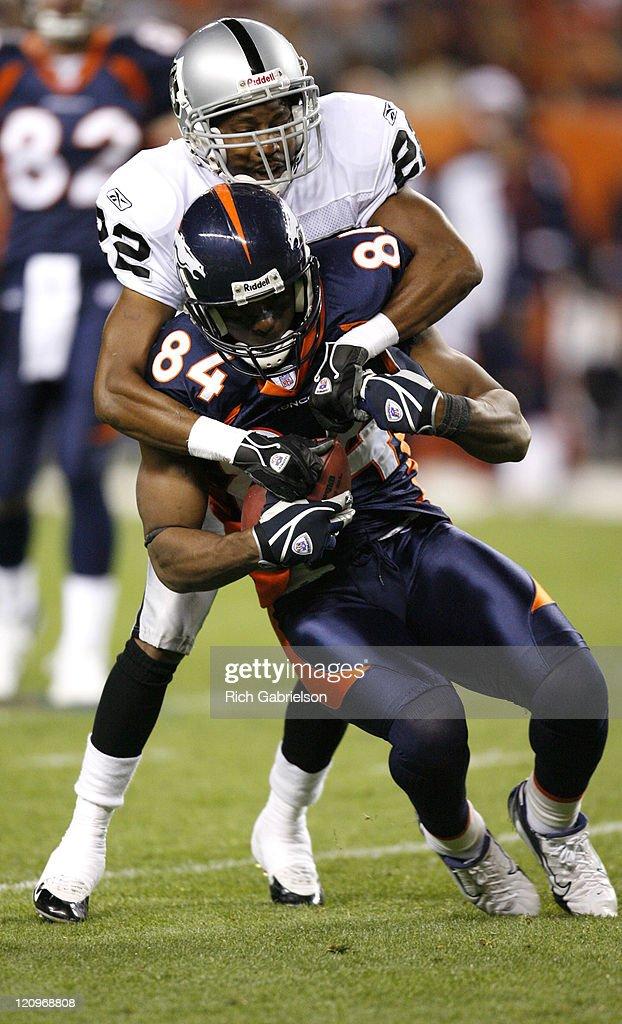 Oakland Raiders vs Denver Broncos - October 15, 2006