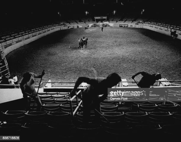 Denver Coliseum Patients of the Peer One Drug treatment program cleaning up the stockshow grounds they are paid and the proceeds go to the drug...