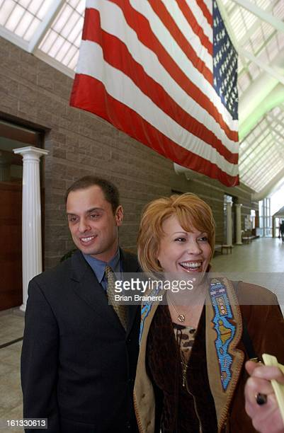 Denver Colo Feb 3 2003 Former Georgetown mayor Koleen Brooks arrives at the Eagle County justice center with her lawyer Michael Andre for sentencing...