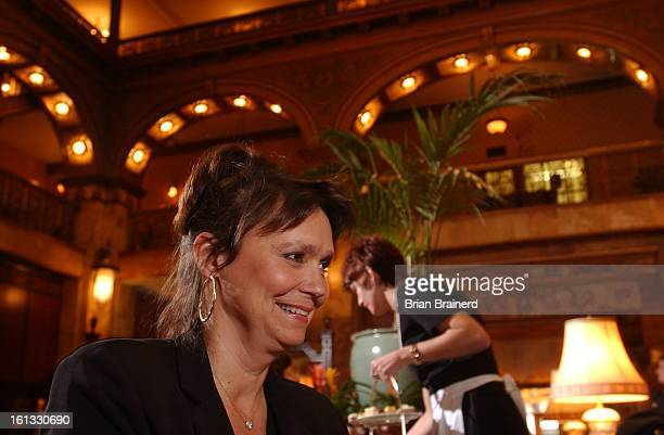 Denver Colo Feb 4 2003 Author Jill Connor Browne author of The Sweet Potato Queens' BigAss Cookbook and Financial Planner during her interview at the...