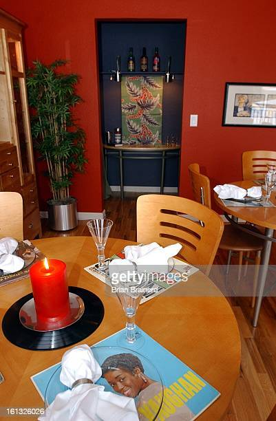Denver Colo March 14 2002 The bonus room was decorated for dining in the Officer's Row LoftHome at Lowry was done on a shoestring and a schedule by...