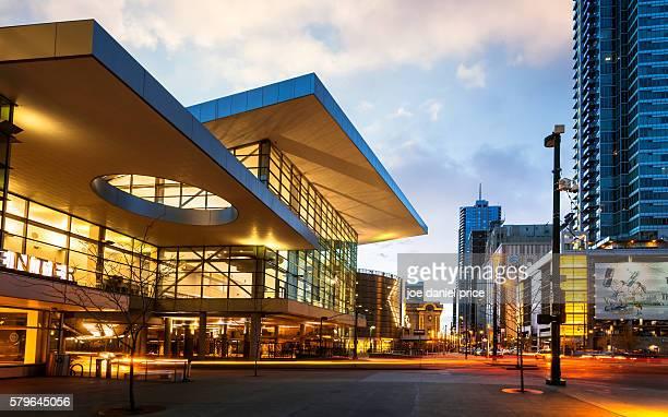 denver convention center, denver, colorado, america - denver stock pictures, royalty-free photos & images