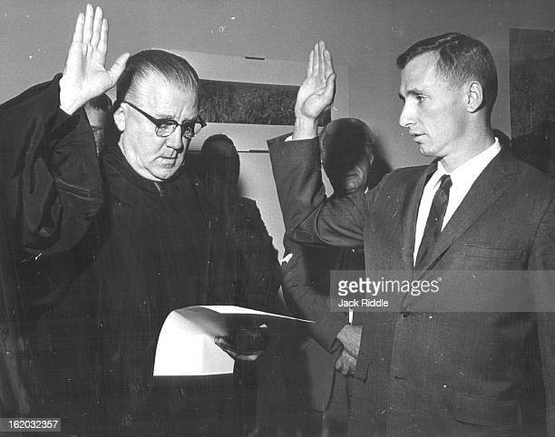 DEC 15 1966 Denver County Court Judge Sworn In Wallace McCamant was sworn in Thursday as Denver County Court judge by Judge Gerald McAuliffe left of...